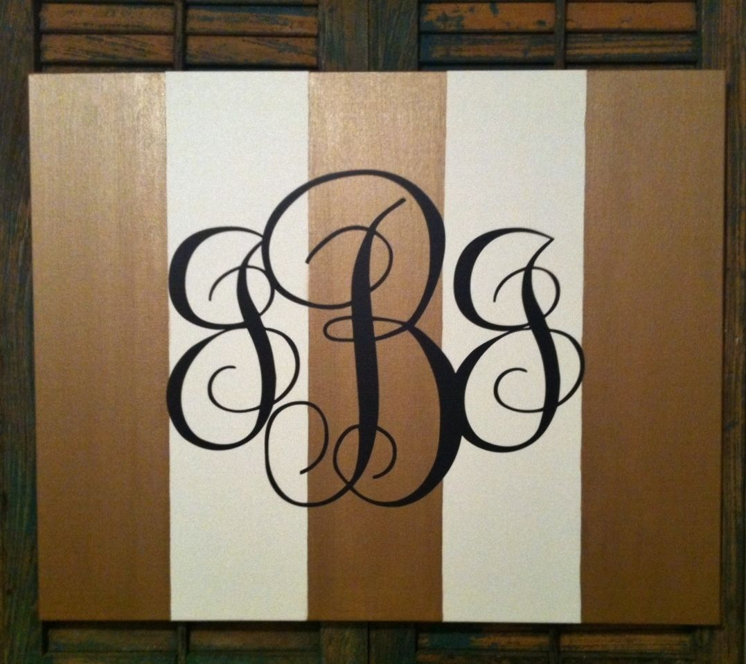 Canvas Love Quotes Monogrammed Painted Canvas Love Love Love  Monogram Me