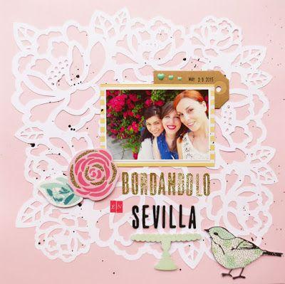 """Layout """"Bordándolo en Sevilla"""" - Freebie Inside"""