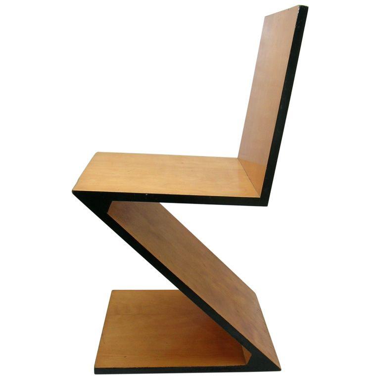 The Zig Zag Chair Is A Chair Designed By Gerrit Rietveld In 1934 Bauhaus Chair Bauhaus Furniture Bauhaus Design