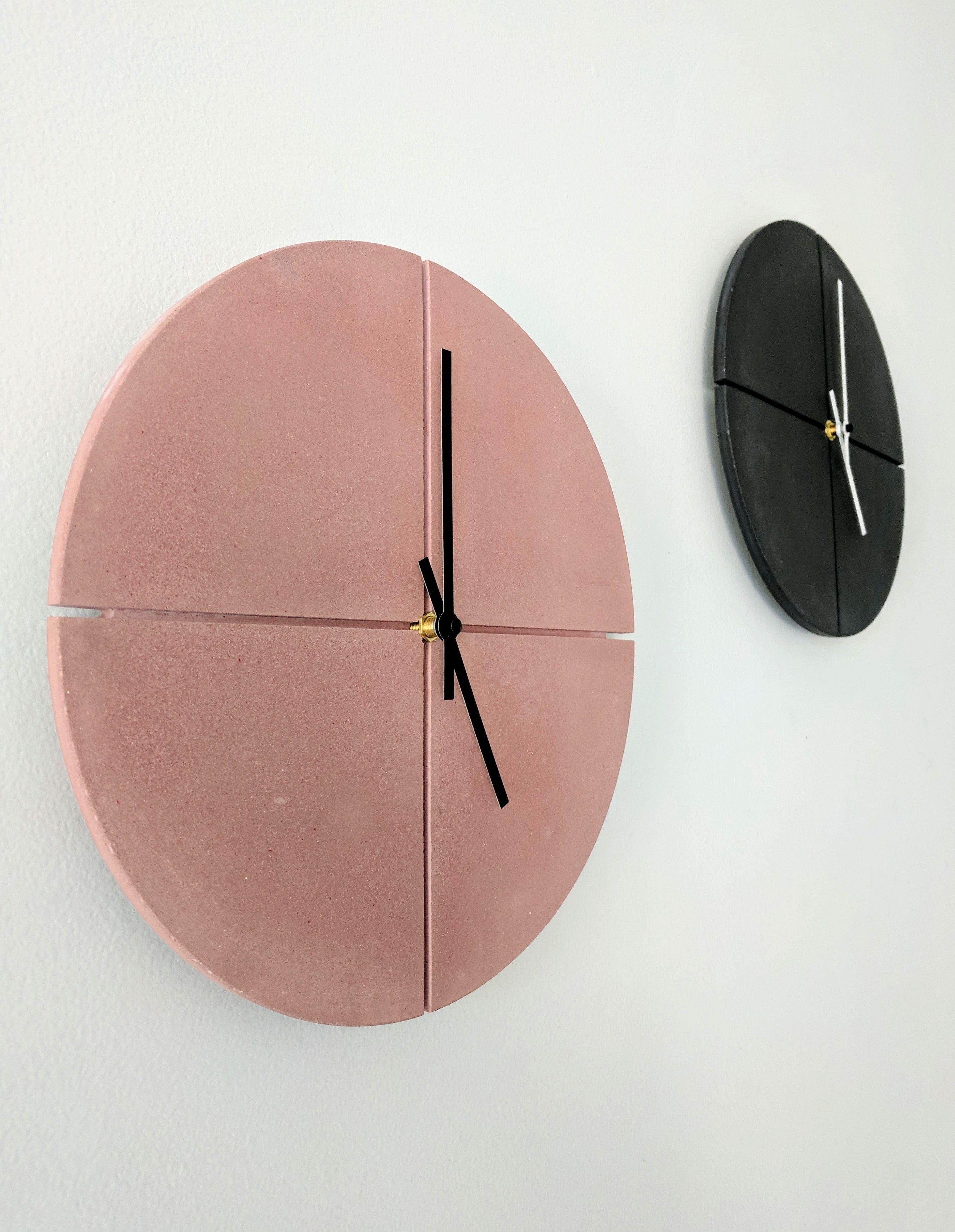 Modern Wall Clock 11 Concrete Clock Round Industrial Etsy In 2020 Handmade Home Decor Contemporary Clocks Wall Clock Modern