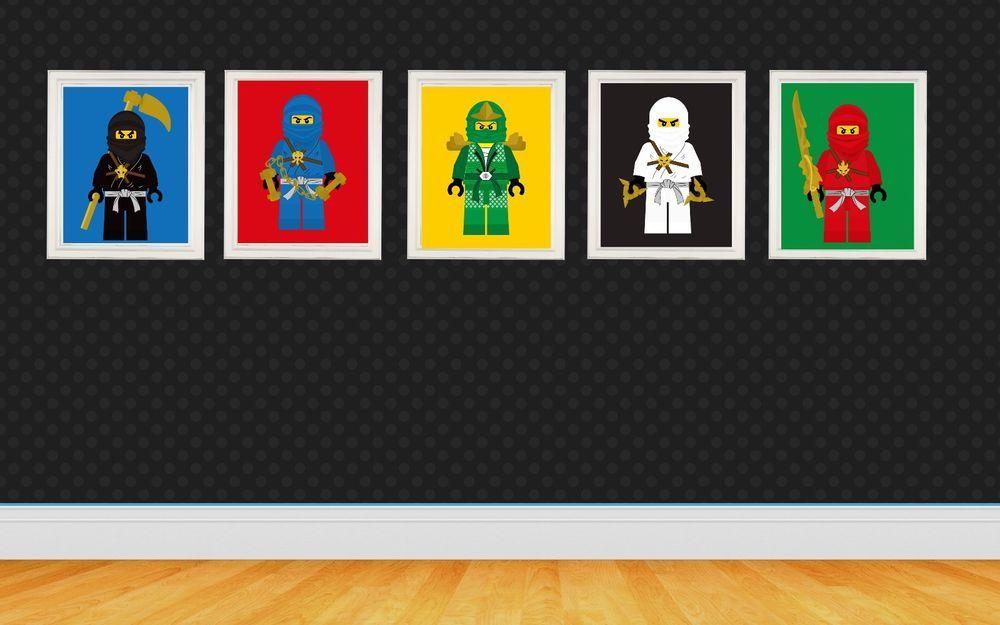 Superb Ninjago Lego Wall Art Nursery Decor Kids Bedroom Decor Diy Download Free Architecture Designs Scobabritishbridgeorg