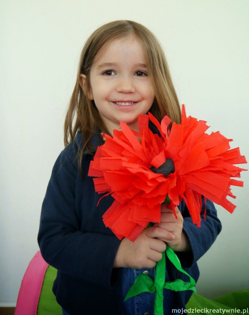 Kwiaty Z Bibuly Diy Moje Dzieci Kreatywnie Necklace