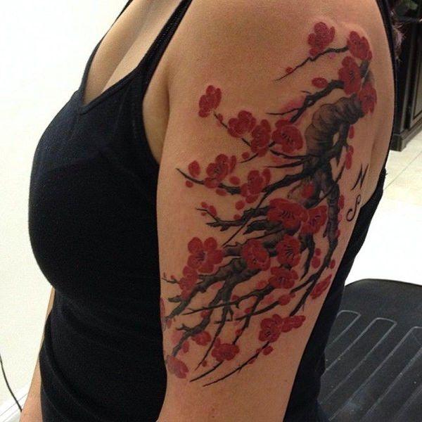 125 Cherry Blossom Tattoo Ideas You Never Knew Existed Wild Tattoo Art Cherry Blossom Tattoo Cherry Blossom Tattoo Meaning Flower Tattoo Shoulder
