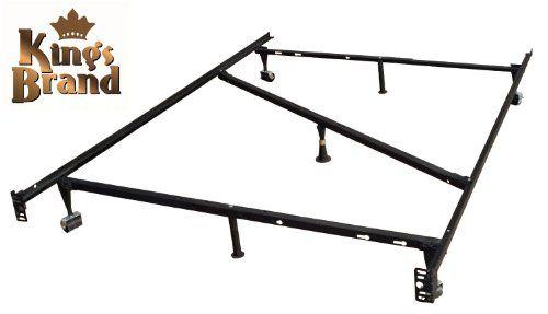 Best King S Brand 7 Leg Heavy Duty Adjustable Metal Bed Frame 640 x 480