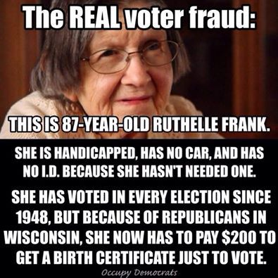 Yeah, let's talk about 'voter fraud'...  - http://holesinthefoam.us/realvoterfraud/