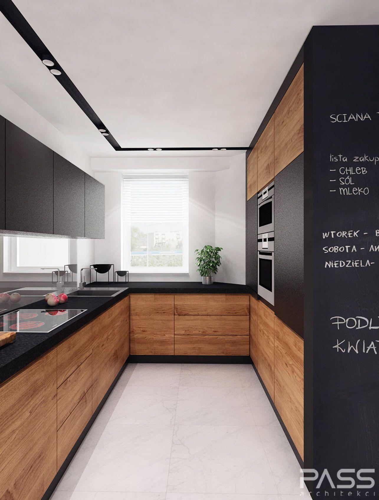 Black and timber kitchen | Kitchen | Pinterest | Küche, Wohnen und ...