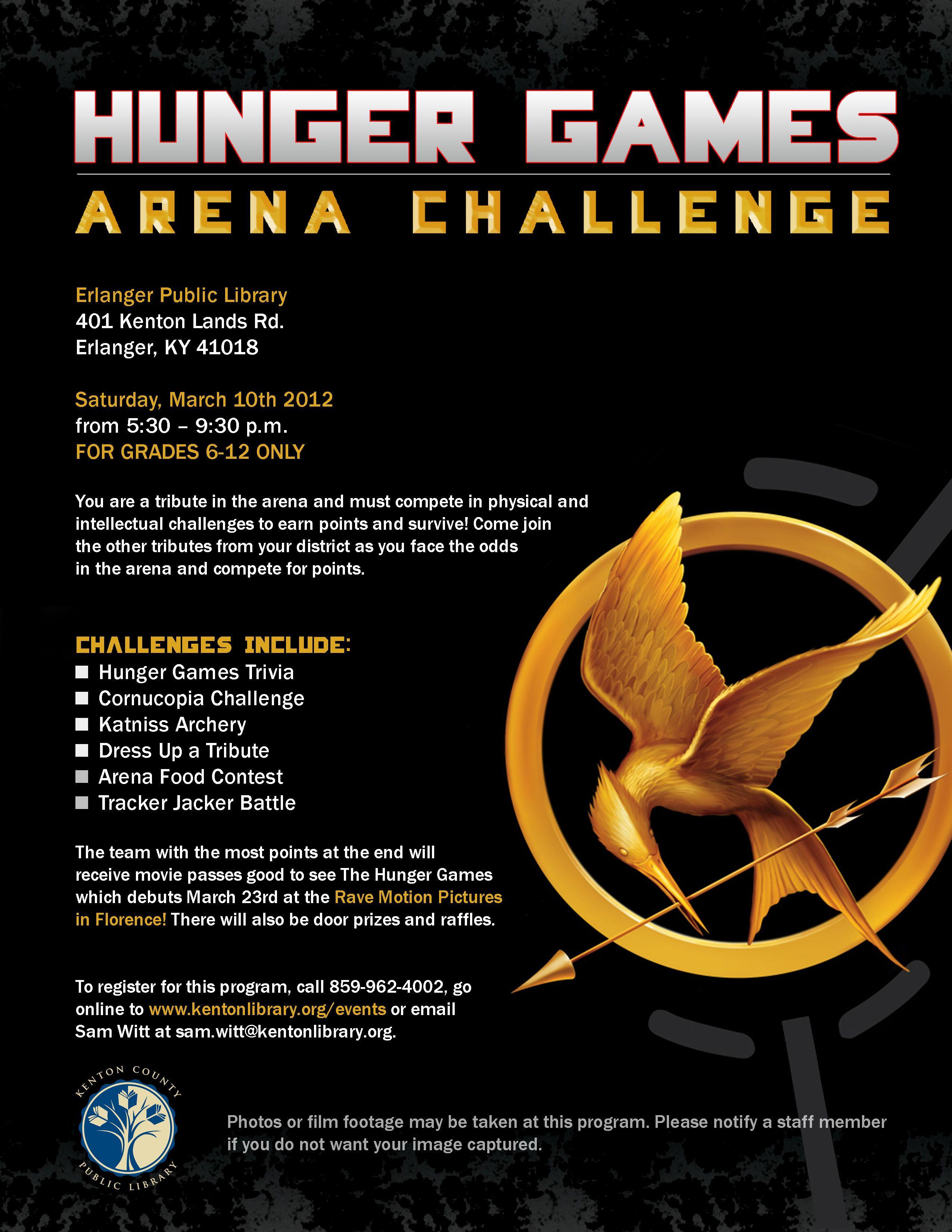 Hunger Games Arena Challenge Summer Reading