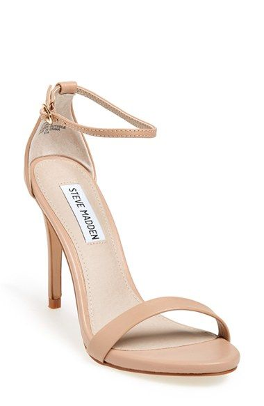 60cf34a640f Steve Madden  Stecy  Sandal. A slim ankle strap lends a dash of on-trend  elegance to a clean