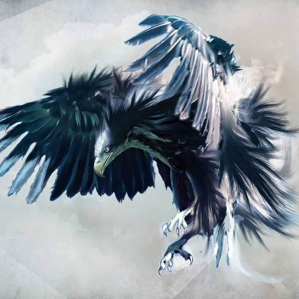 Pintura águia, Águia Careca, Animais