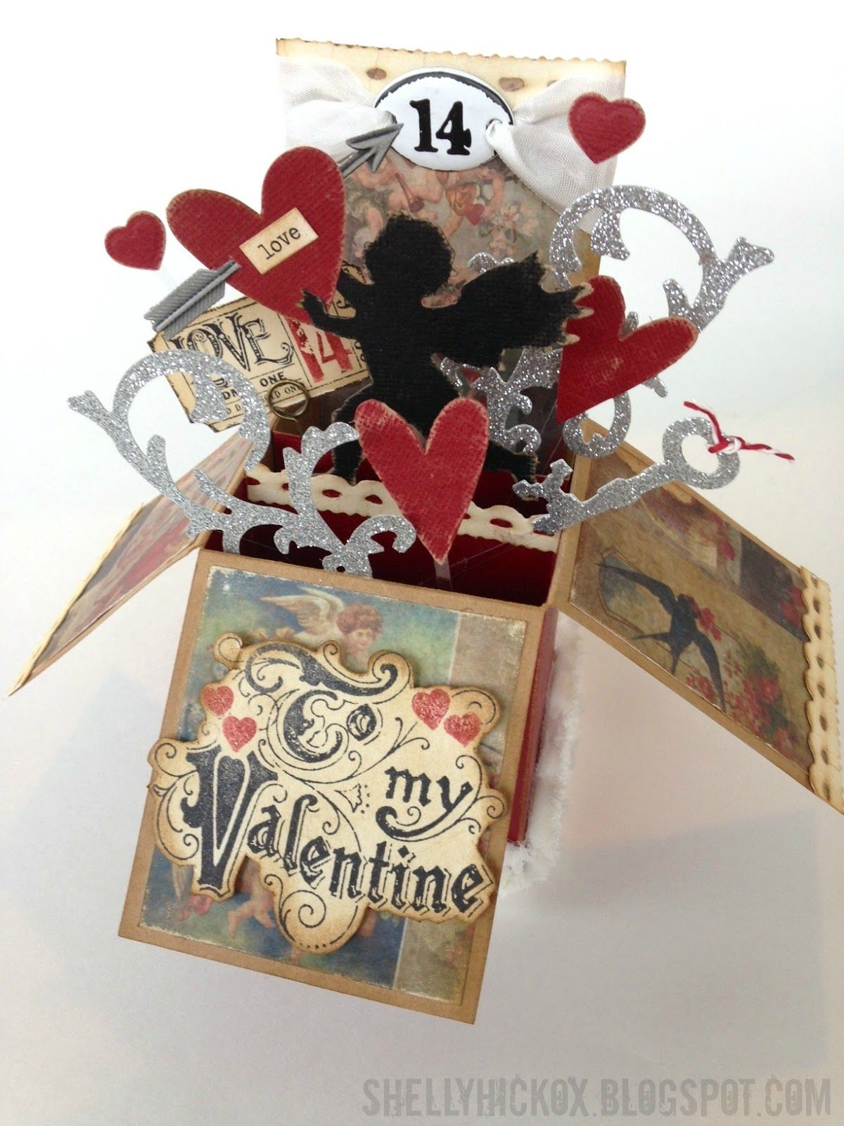 To My Valentine Pop Up Box Card With Images Pop Up Box Cards