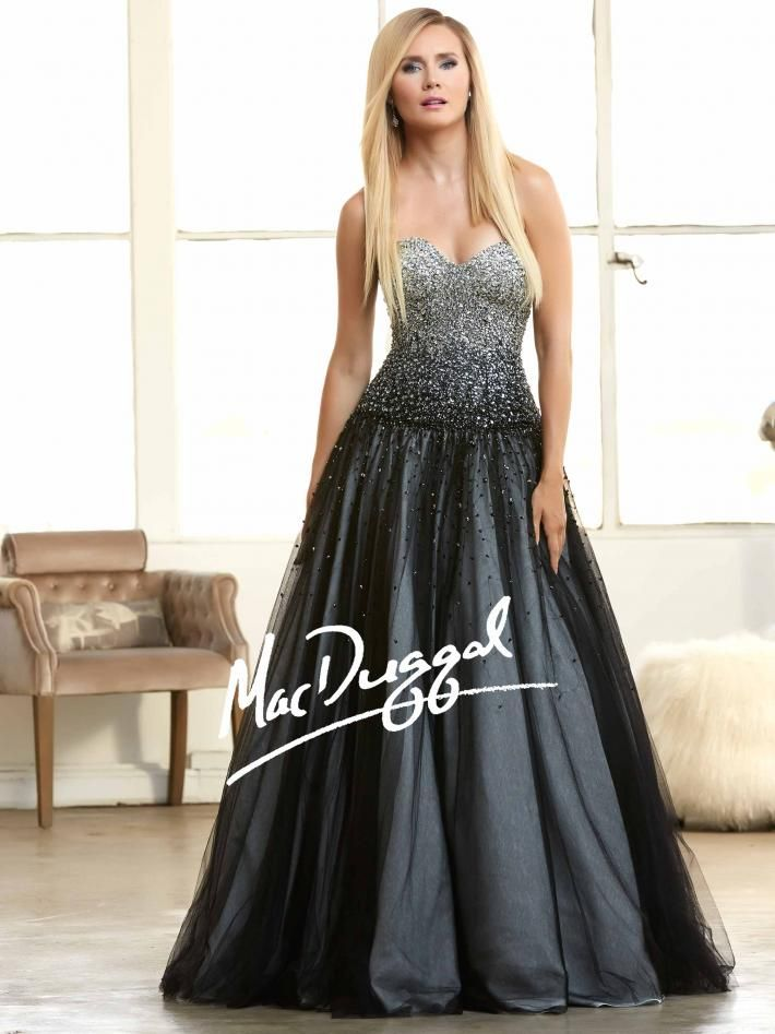 Black Ombre Ball Gown | Sparkly Prom Dress | Mac Duggal 62103H ...