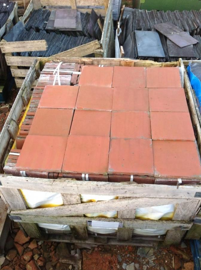 Reclaimed 9 Inch Square Red Terracotta Quarry Tiles For On Salvoweb From London Brick Merchants In Salvo Code