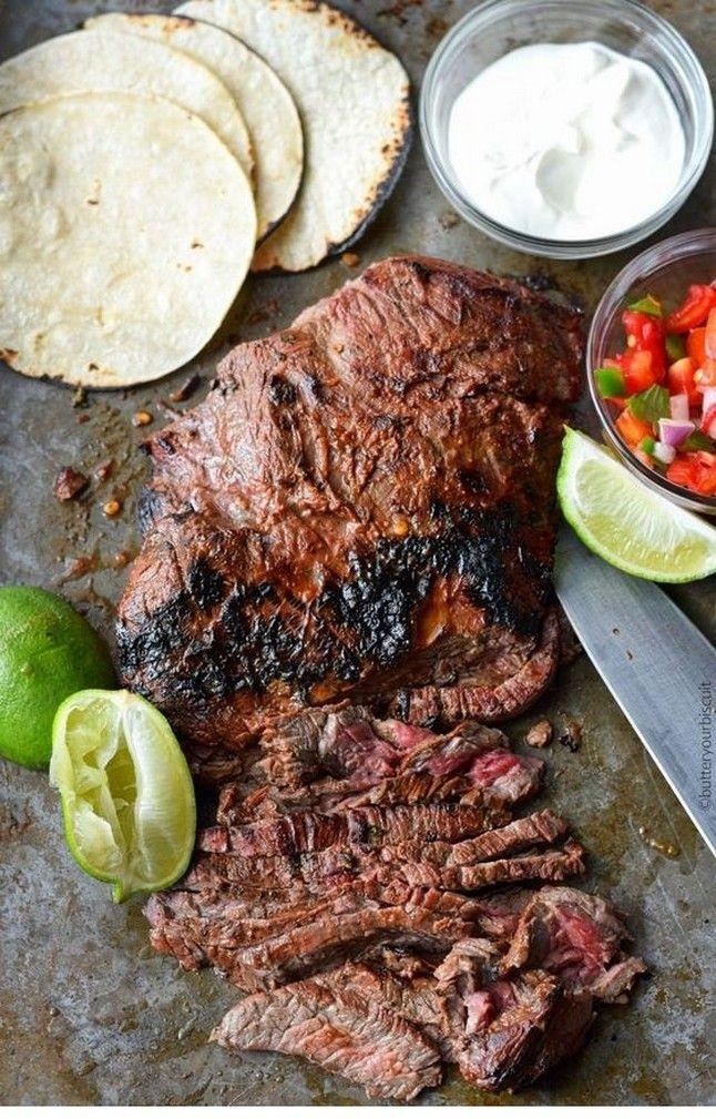 Chipotle-Lime Flank Steak Street Tacos   Steak Recipes Grilled #beefsteakrecipe