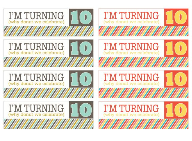 Birthday Tags For 10 Year Old