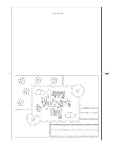 Fichas de Inglés para niños: Cards for mother´s day