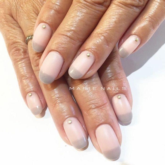 manicura elegante con efecto ombre, dibujos en uñas faciles de hacer ...