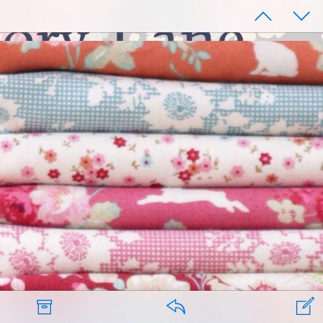 Gorgeous Tilda fabrics Cabbage Rose. I just love the colours