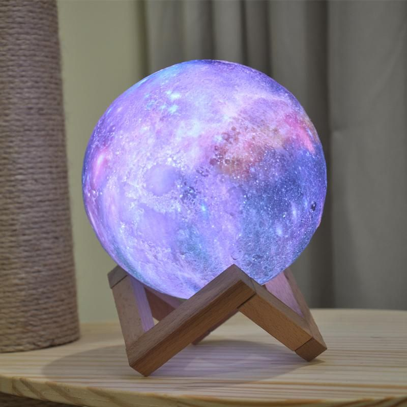 3d Print Star Moon Lamp Colorful Change Touch Galaxy Decor Galaxy Bedroom Moon Light Lamp