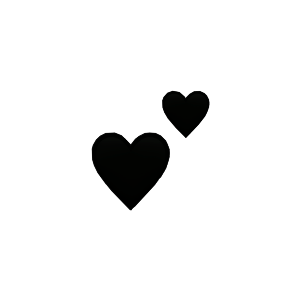 black hearts heart tumblr - Sticker by Who cares??