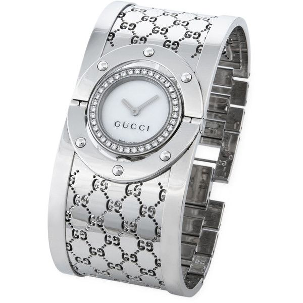 aac91efa4 Gucci Women's Estate Gucci Stainless Steel & Diamond Twirl Monogram...  ($1,475