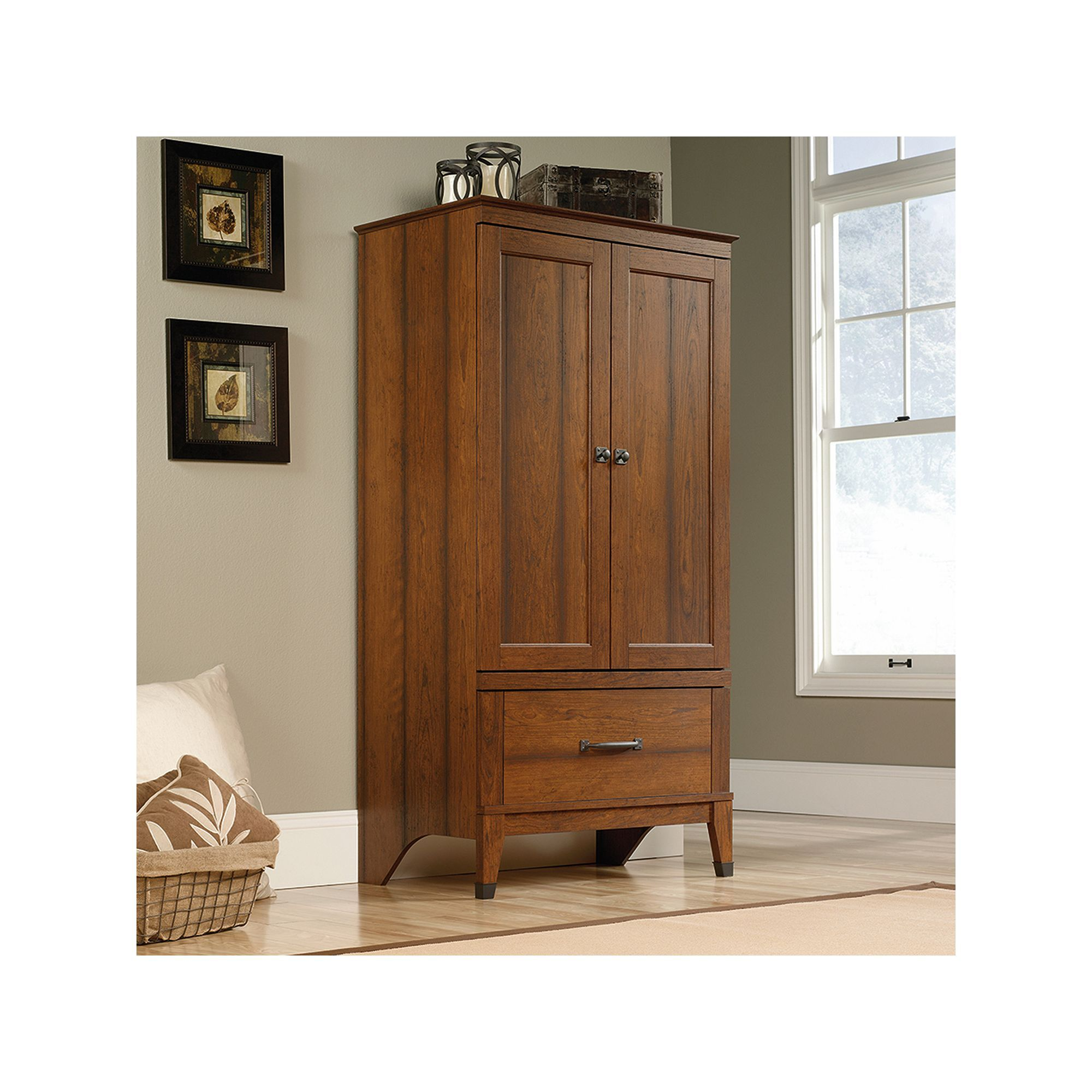 Sauder Carson Forge Collection Armoire, Brown