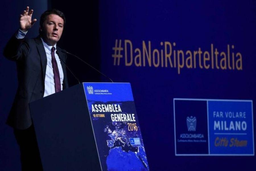 Assemblea Assolombarda, Renzi di nuovo a Milano tra Sala e Maroni