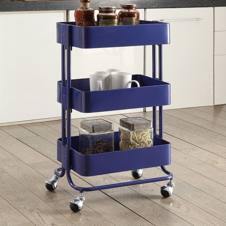 Linon 3 Tier Rolling Storage Cart Products Rolling Storage Cart