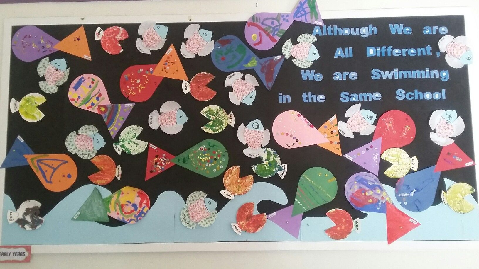 Classroom Unity Ideas ~ School display about unity in diversity made by the early