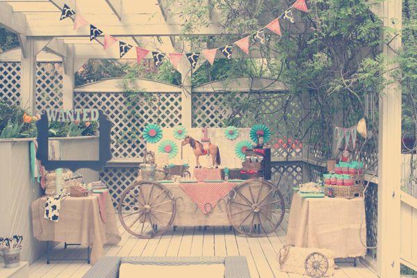 Vintage Cowboy First Birthday Party Planning Ideas Supplies Idea