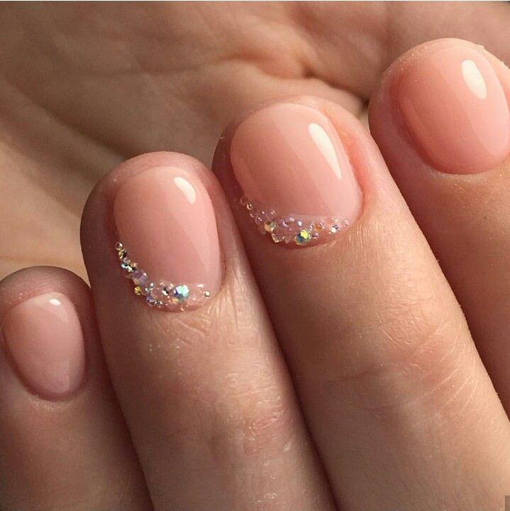 This Is Perfect Simce My Nails Have To Be Short And Plain For My Rotations Bride Nails Short Nail Manicure Really Short Nails