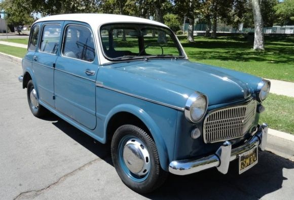 Little Blue Wagon 1960 Fiat Millecento With Images Classic