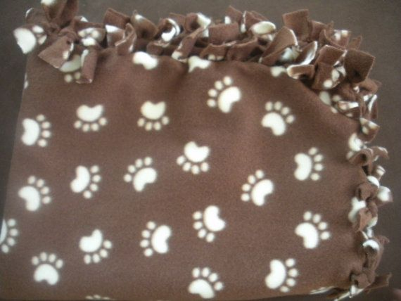 Paw Prints Dog Blanket