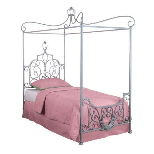 Twin size Princess Style Wrought Iron Metal Canopy Bed | Bedrooms ...