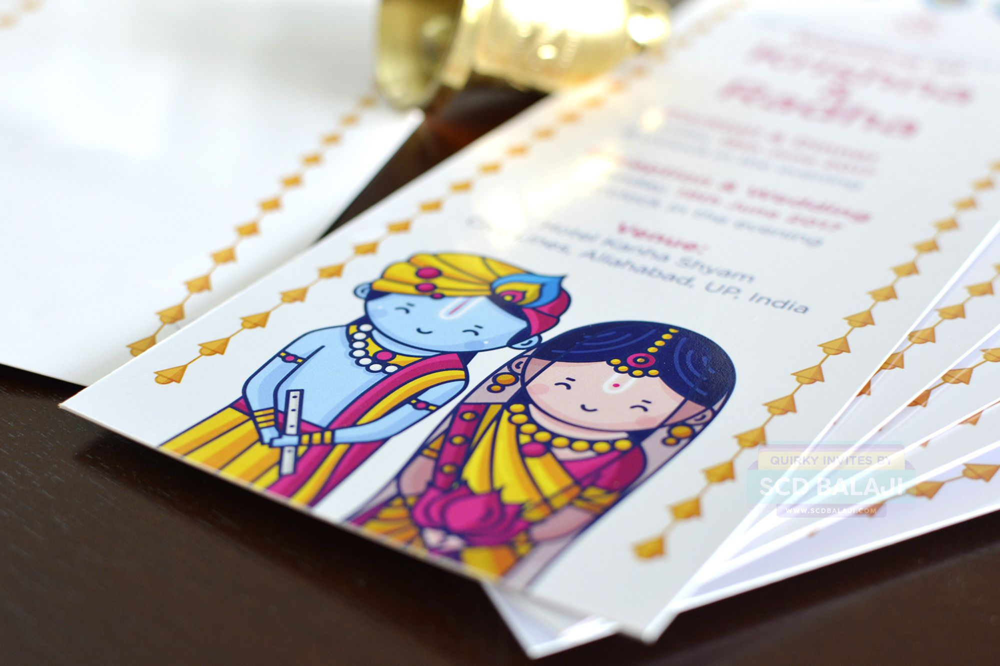 how to write muslim wedding invitation card%0A Radha Krishna Wedding Invitation  Cute Couple Collection  Explore the  complete invitation at www