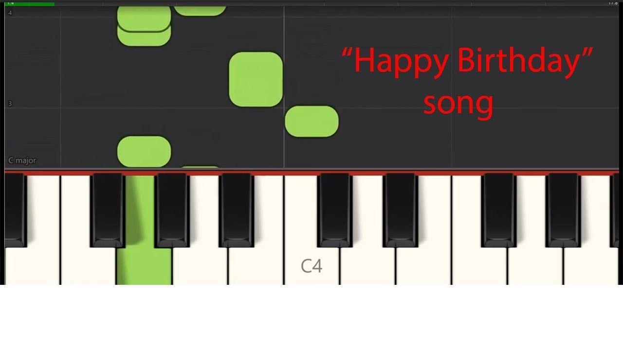 Happy birthday song easy piano in 2020 birthday songs