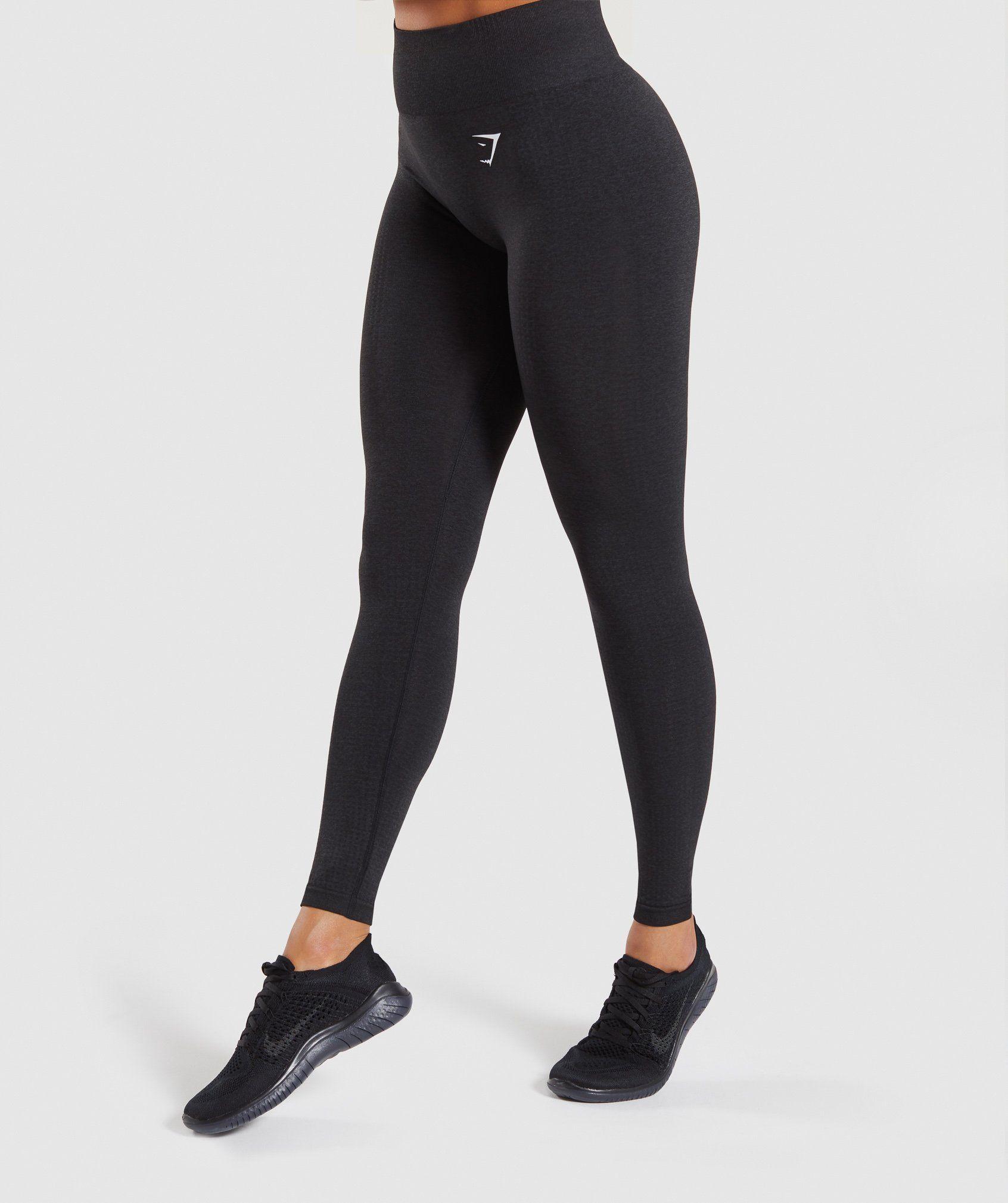 05180f7f8cb Gymshark Flex High Waisted Leggings - Charcoal Marl  Dusky Pink