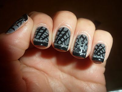 Halloween Mani ~ Spider Webs | Stick on nails, Nail polish ...