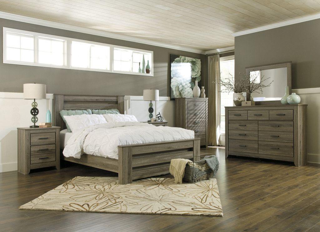 Zelen 3pc Bedroom Set (Bed, Dresser U0026 Mirror)   Kensington Furniture   1