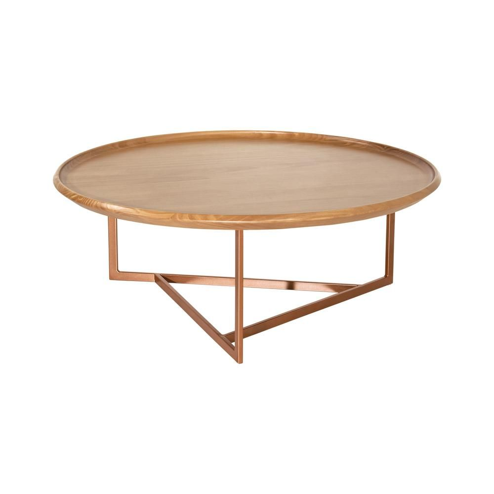 Luxor Javitz 32 In Cinnamon Medium Round Wood Coffee Table 2544hd1 The Home Depot Round Coffee Table Modern Round Wood Coffee Table Coffee Table Wood [ 1000 x 1000 Pixel ]