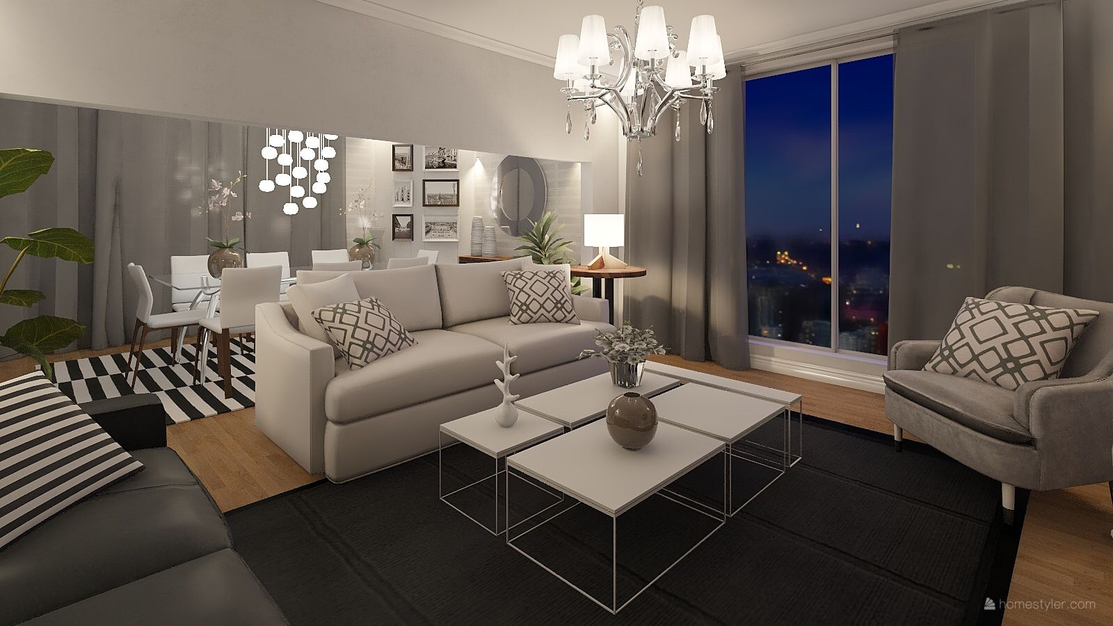 Night View From The Penthouse Living Room Decor Room Decor Home Decor