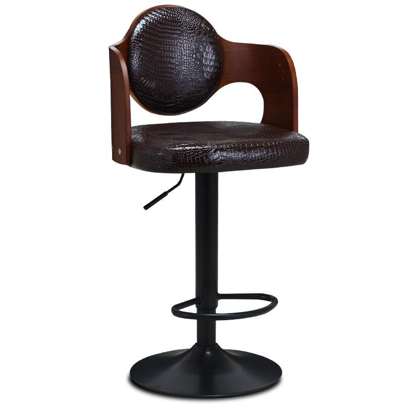Buy Multi Function Lifted Bar Chair Wooden Backrest Rotated Retro