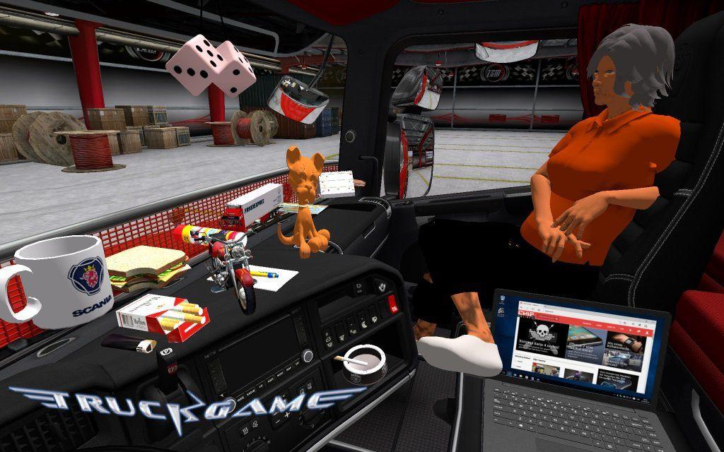 dlc cabin accessories pack euro truck simulator 2. Black Bedroom Furniture Sets. Home Design Ideas