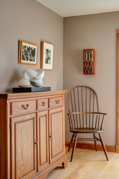 These Dining Room Walls Are Painted In Benjamin Moore Weimaraner