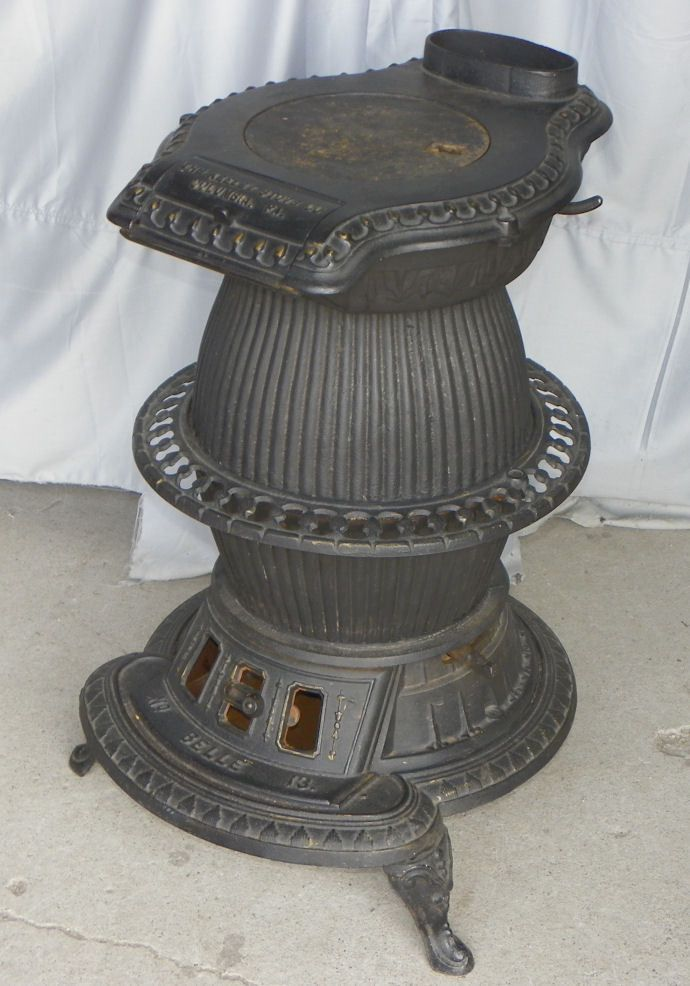 Pot Belly Stove The Keeley Cast Iron Antique Stove Belle