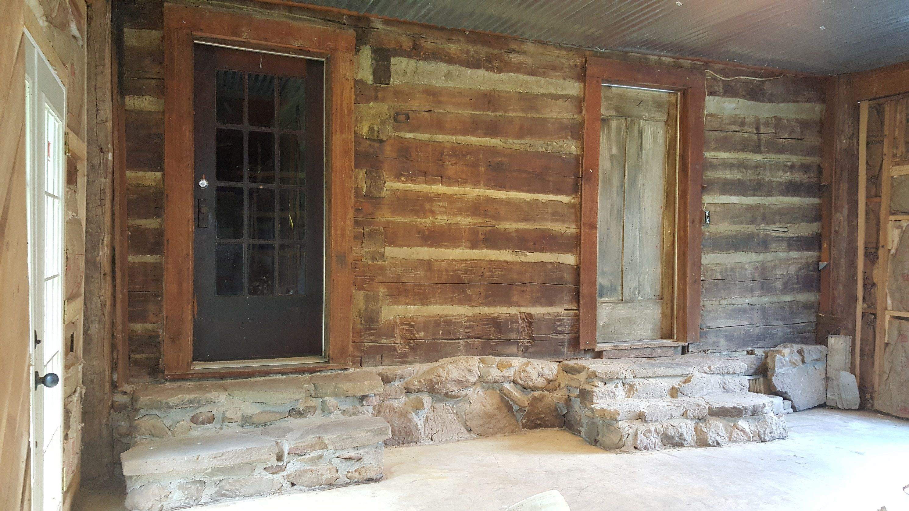 Antique Log Cabin on 28 Acres CIRCA Old Houses Old