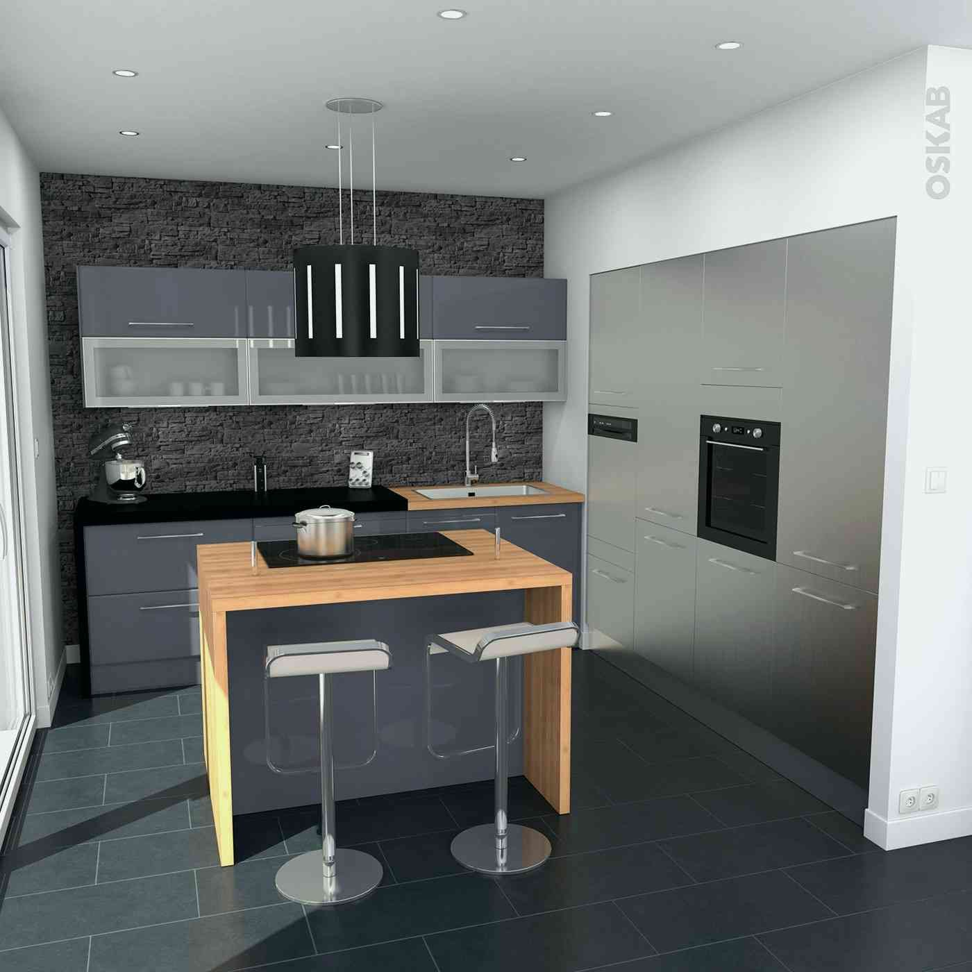 Fresh Cuisine En U Avec Ilot Idees De Maison Kitchen Design