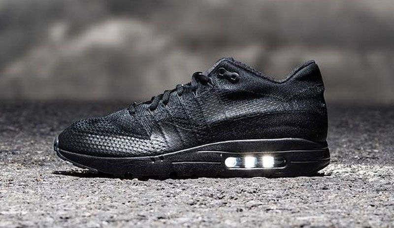 3d55be8408b515 Triple Black Is Also Applied On The New Nike Air Max 1 Ultra Flyknit ...