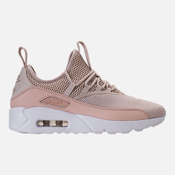 Right view of Women s Nike Air Max 90 Ultra 2.0 Ease Casual Shoes in Desert  Sand Particle Beige White 73c6e836d