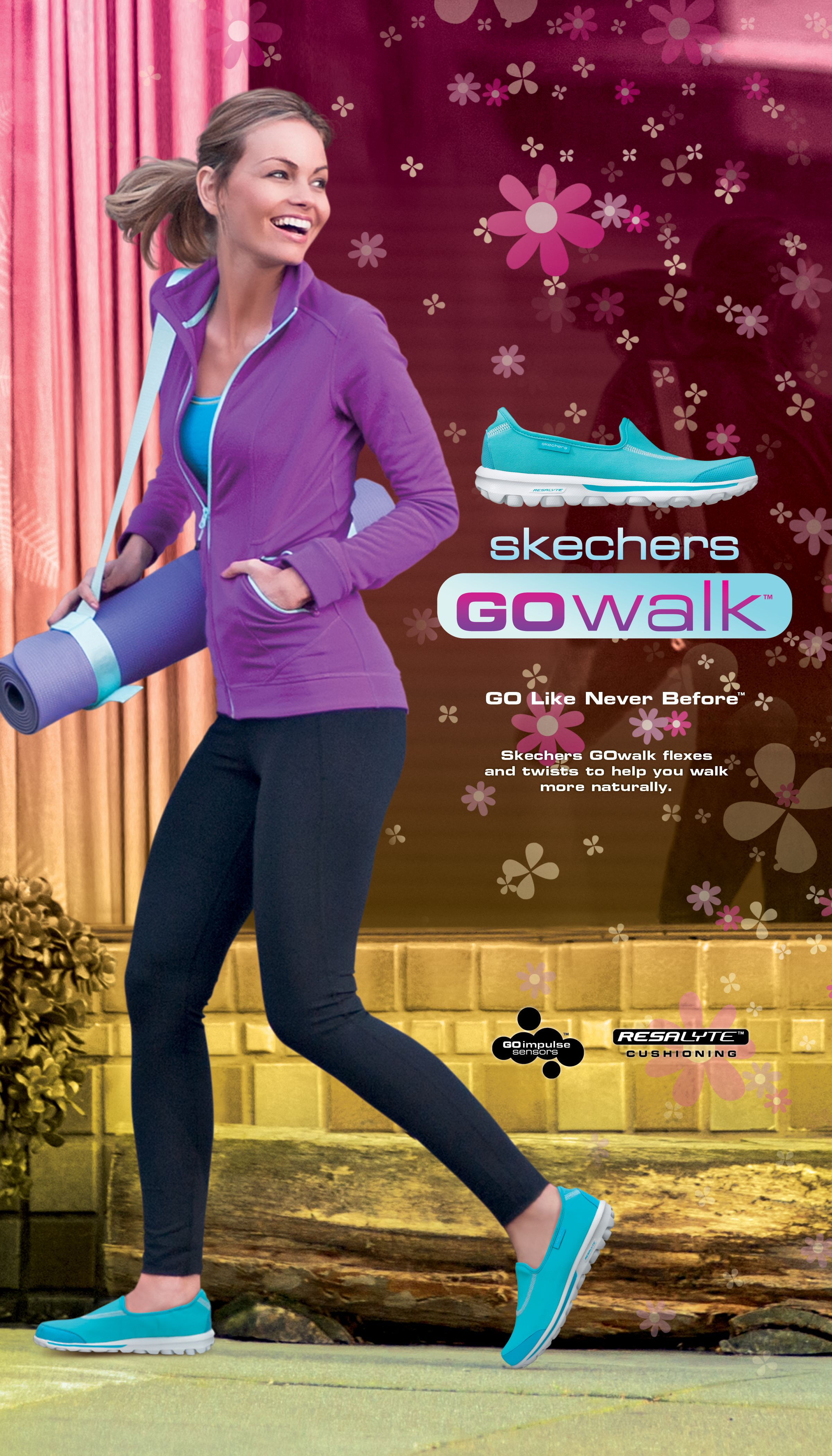 SKECHERS GOwalk flexes and twists to help you walk more naturally.