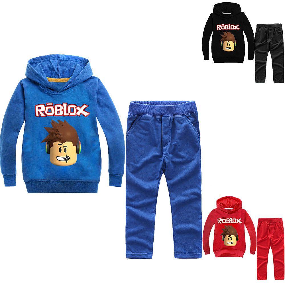 Boys Girls Roblox Kids Sweatshirt Hoodies Pants Spring Fall Casual